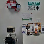First Aid Station with AED